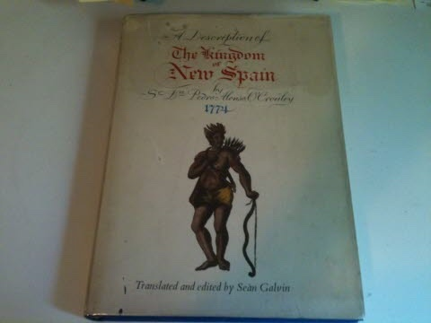 Image for A DESCRIPTION OF THE KINGDOM OF NEW SPAIN by Pedro Alonso O'Crouley