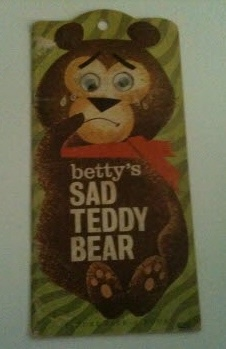 Image for BETTY'S SAD TEDDY BEAR Picture Peek-a -Book