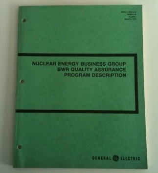 Image for Nuclear Energy Business Group Boiling Water Reactor Quality Assurance Program Description