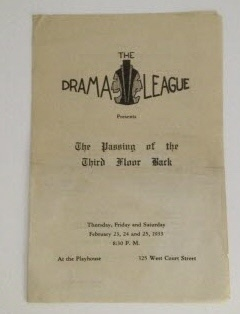 Image for The Drama League (Milwaukee) The Passing of the Third Floor Back