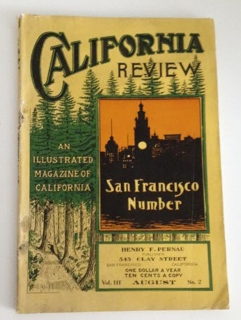 Image for California Review An Illustrated Magazine of California: Sasn Francisco Number
