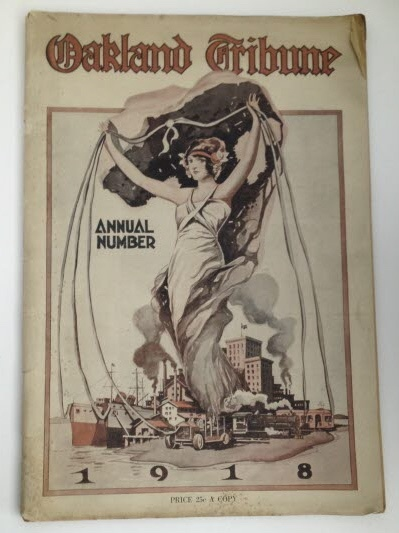 "Image for Oakland Tribune Annual Number 1918 ""A Yearly Record of Commercial and Industrial Achievement"""