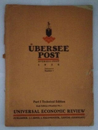 Image for Ubersee Post  (Oversea - Post) 1938  January Number 1 : Part 1 Technical Edition (Engl. Edition (Monthly) No. 1)