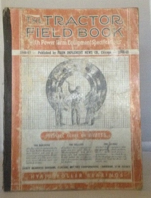 Image for 1948-49 Tractor Field Book with Power Farm Equipment Specifications