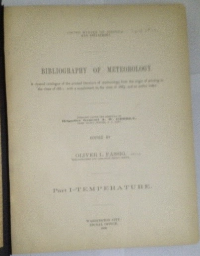 Image for Bibliography Of Meteorology