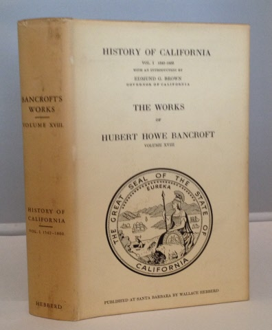 Image for History Of California Vol. I: 1542-1800  ( Vol. XVIII of Bancroft's Works)