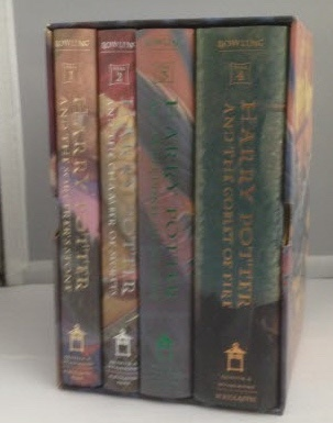 Image for Harry Potter - The First Four Thrilling Adventures at Hogwarts Boxed set, including: HP & the Sorcerer's Stone, HP & the Chamber of Secrets, HP & the Prisoner of Azkaban, HP & The Goblet of Fire