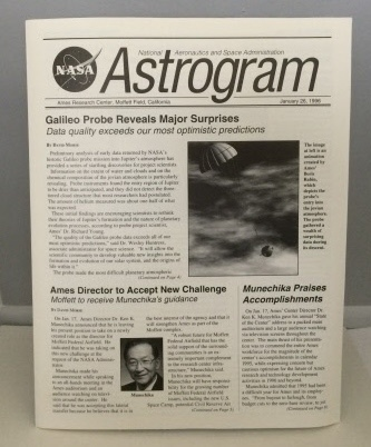 Image for Nasa Astrogram  (Ames Research Center, Moffett Field, CA) January 26, 1996