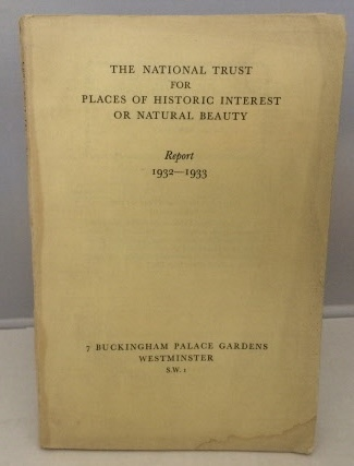 Image for The National Trust For Places Of Historic Interest Or Natural Beauty Report 1932-1933