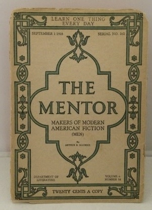 Image for The Mentor : Makers Of Modern American Fiction (men)  September 1, 1918 (Serial No. 162)