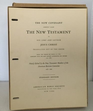 Image for The New Covenant Commonly Called The New Testament Of Our Lord...