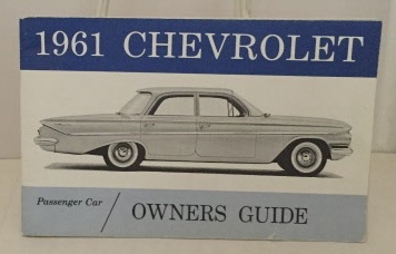 Image for 1961 Chevrolet Passenger Car Owners Guide