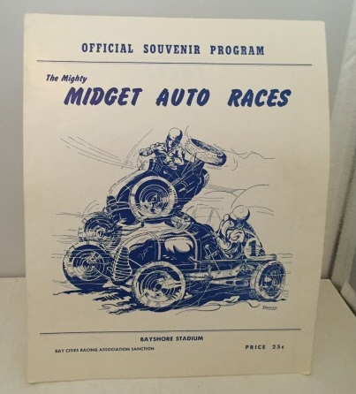 Image for Official Souvenir Program - The Mighty Midget Auto Races Bayshore Stadium 1949