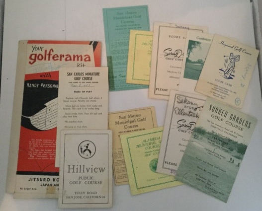 Image for Group Of Golf Score Cards From Various Places In California