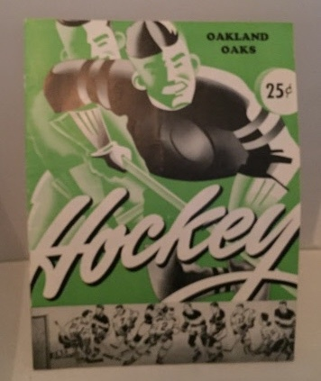 Image for Oakland Oaks Hockey Booklet Oakland Oaks VS Los Angeles Monarchs