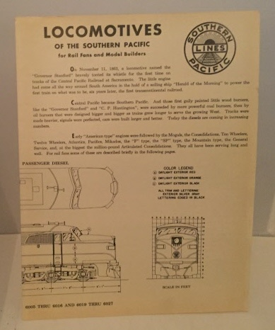 Image for Locomotives Of The Southern Pacific For Rail Fans and Model Builders