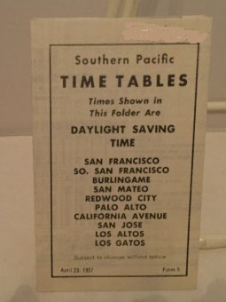 Image for Southern Pacific Time Tables (daylight Saving Time)  Including San Francisco, So. San Francisco, Burlingame, San Mateo, and More