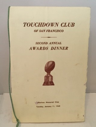 Image for Second Annual Awards Dinner Menu Tuesday, January 11, 1949