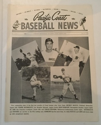 Image for Pacific Coast Baseball News June 10, 1950