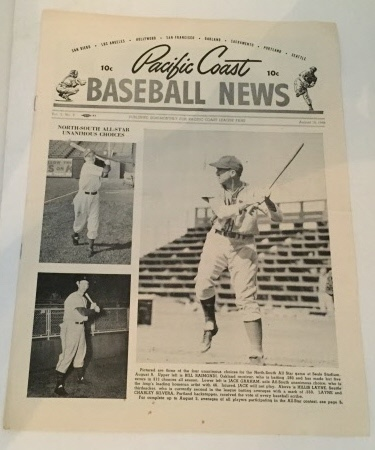 Image for Pacific Coast Baseball News August 10, 1948
