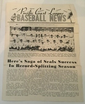 Image for Pacific Coast Baseball News October 15, 1946