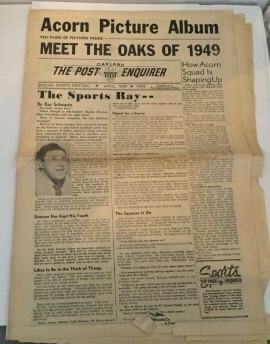 Image for Acorn Picture Album The Oakland Post Enquirer Special Sports Edition April 1949