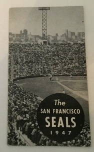 Image for The San Francisco Seals 1947 Line-up Booklet