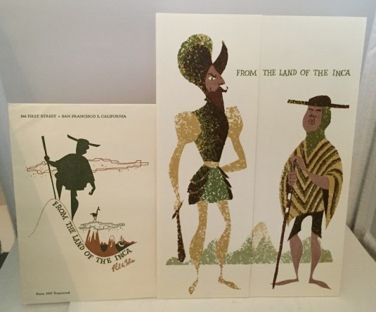 Image for From The Land Of The Inca Advertising Booklet, Envelope and Stamp