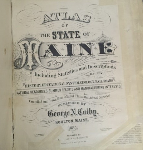 Image for Colby's Atlas Of The State Of Maine Including Statistics and Descriptions