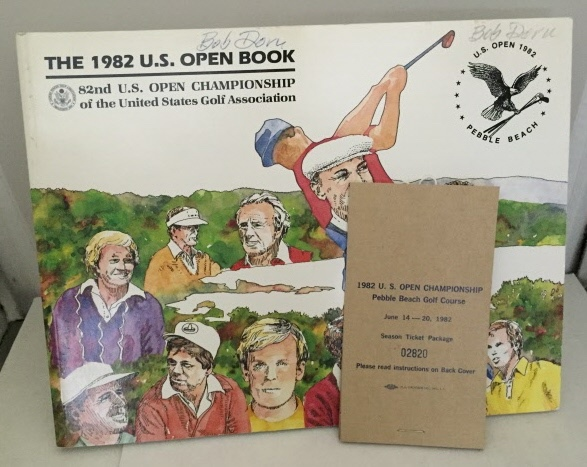 Image for 1982 U.S. Open Championship Pebble Beach Golf Course June 14-20, 1982 Season Ticket Package w/ The 1982 U.S. Open Book