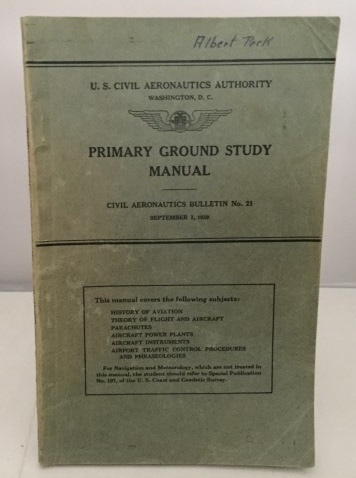 Image for Primary Ground Study Manual Civil Aeronautics Bullentin No. 121 (Sept. 1, 1939)