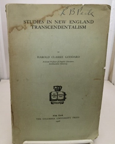 Image for Studies In New England Transcendentalism