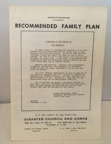 Image for Recommended Family Plan  (Civil Defense Leaflet)