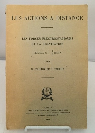 Image for Les Actions A Distance Les Forces Electrostaticques Et La Gravitation