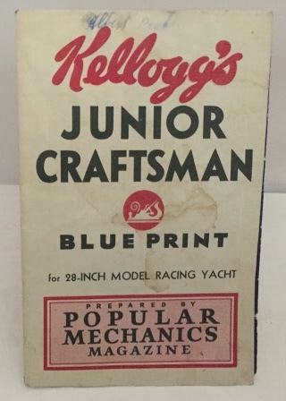 Image for Kellogg's Junior Craftsman Blue Print for 28 Inch Model Racing Yacht