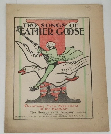 Image for Two Songs Of Father Goose  (Christmas Music Supplement of the Examiner)