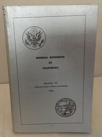 Image for Mineral Resources Of California Bulletin 191