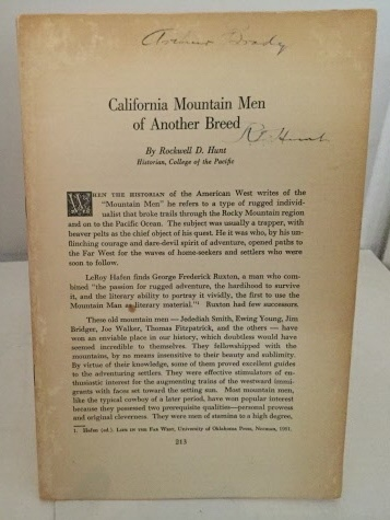 Image for California Mountain Men Of Another Breed