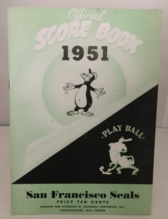 Image for Official Score Book 1951 San Francisco Seals